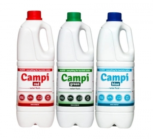 Campi, zestaw płynów do toalet Red+Green+Blue - 3x2l